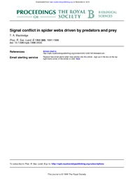 Signal Conflict in webs