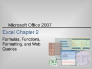 Excel 2007 Chapter 2