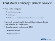 Ford Motor Company Business Analysis-1
