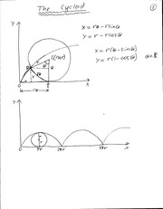 Math 202 Notes on Cycloids