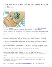 Starbucks (SBUX) Doesn't Want You to Just Spend Money At Its Stores - TheStreet.pdf