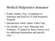 Medical Malpractice Insurance lecture