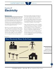 Comptroller's Energy Report Chapter 27-Electricity