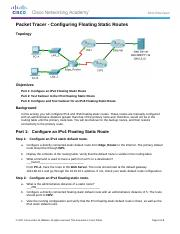 2.2.5.5 Packet Tracer - Configuring Floating Static Routes Instructions.docx