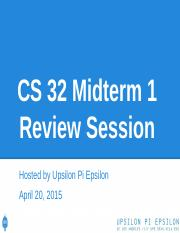 CS32 Midterm 1 Review Session.pptx.pptx