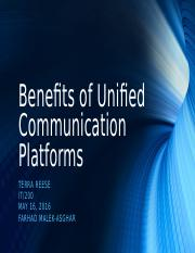 Benefits of Unified Communication Platforms