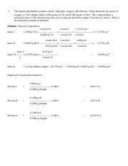 CHEMICAL COMPOUNDS - PROBLEM-SOLVING (1)