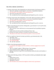 Governement and non for profit -chapter 1 MULTIPLE CHOICE