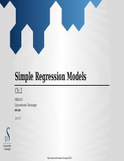 Lecture 2 - Simple Regression Models (w35).pptx