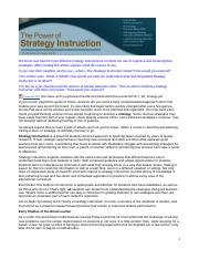 The Power of Strategy Instruction-1