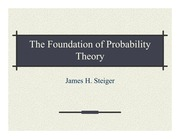 Psychology 310_Steiger_Lecture Notes on Foundations of Probability Theory