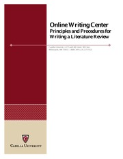 OWC-LiteratureReview- HOW TO WRITE A LITERATURE REVIEW