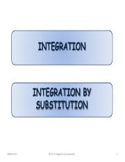 CH3A(2) Integration by substitution