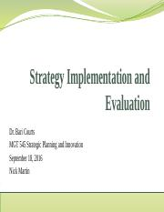 Strategy Implementation and Evaluation Critical Thinking Module 6.pptx