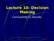 Lecture 10 Decision Making Card Talk