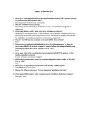 Chapter 10 Review Quiz