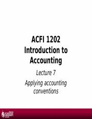 1617 - Lecture 7 - aApplying accounting conventions.ppt