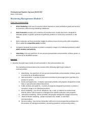 BUS-530 Marketing Management Modile 7.docx