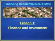 Chapter 1 Finance & Investment
