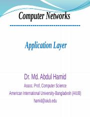 4. Application Layer