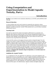 4A F15 Exp 05 Using Comp and Exp Models for AqTox