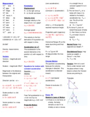 EXAM1CHEATSHEET