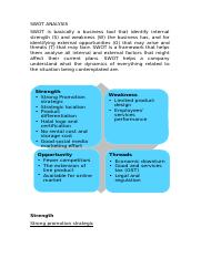 swot analysis and finance.docx
