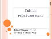 WK 9 Final Tuition Reimbursement Report