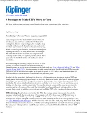 FIN425 - 4 Strategies to Make ETFs Work