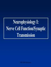 Lecture 2-Neurophysiology I