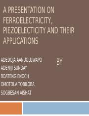 FERROELECTRICITY AND PIEZOELECTRICITY.ppt