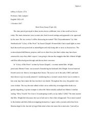 Thesis Example Essay English   Short Story Essaydocx Starting A Business Essay also Thesis Generator For Essay The Chrysanthemums Documents  Course Hero Theme For English B Essay