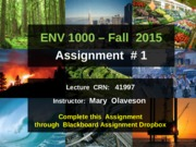 ENVS1000-F2015-Assignment-1-Instructions