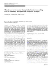 2014_Gioli_Regional Environmental Change_Climatic and environmental change in the Karakoram- making