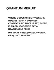 quantum meruit Texas quantum meruit - ©2014 mark courtois and diane davisquantum meruit is an equitable theory of recovery, founded on the theory of unjust enrichment, and based on.