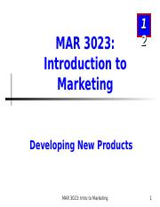 MAR3023_Chapter 12_New Products