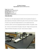 PY1404 Lab Report Experiment 6