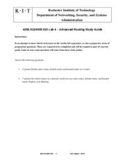 Lab 6 - Advanced Routing Study Guide
