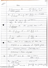 Calculus Integration Theorems Class Notes