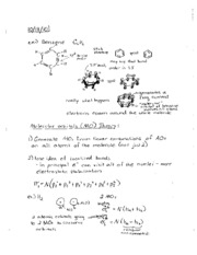 Chemistry 2090 notes to October 22