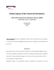 HIS 204 American History Since 1865-Global impact of the Industrial Revolution(1700 words APA format