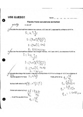 Physics_Electric Force Calculations