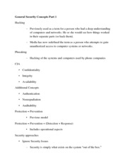 General Security Concepts_ 1st Class Notes