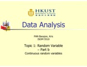 Topic 1b - Continuous random variable