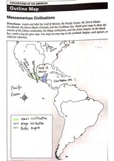 Mesoamerican Civilizations Map