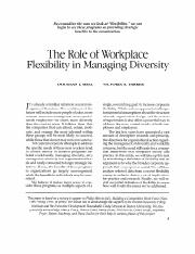 10. the role of workplace flexibility in managing diversity