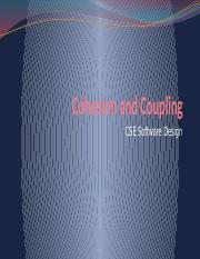 3. Cohesion and Coupling - 160105