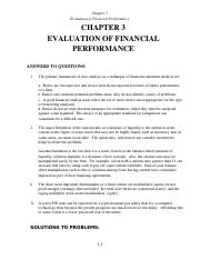 Financial Performance Practice Problems Solutions (Chp 3)