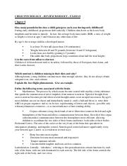 Child Psych - Review Handout - Exam 3