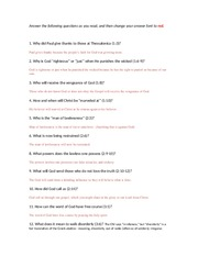 2 thessalonians questions answered